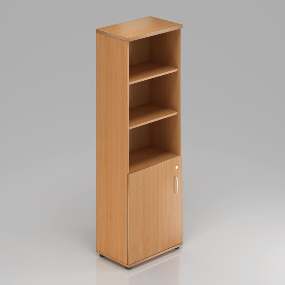 Kancelářská skříň Komfort, 60x38,5x183,5 cm, dveře 2/5  - S562 11