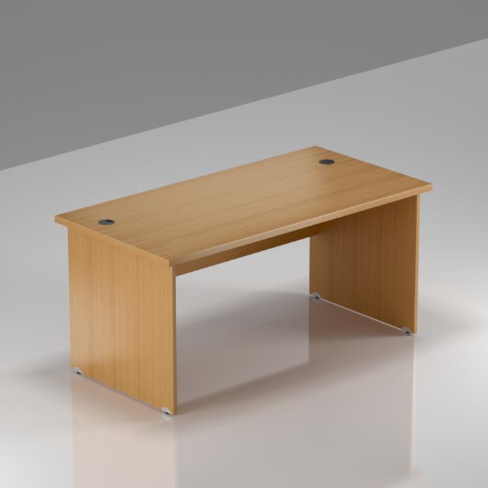 Kancelářský stůl Komfort, dřevěná podnož, 140x70x76cm - BKA14 11