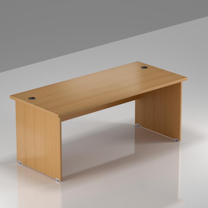 Kancelářský stůl Komfort, dřevěná podnož, 160x70x76 cm - BKA16 11