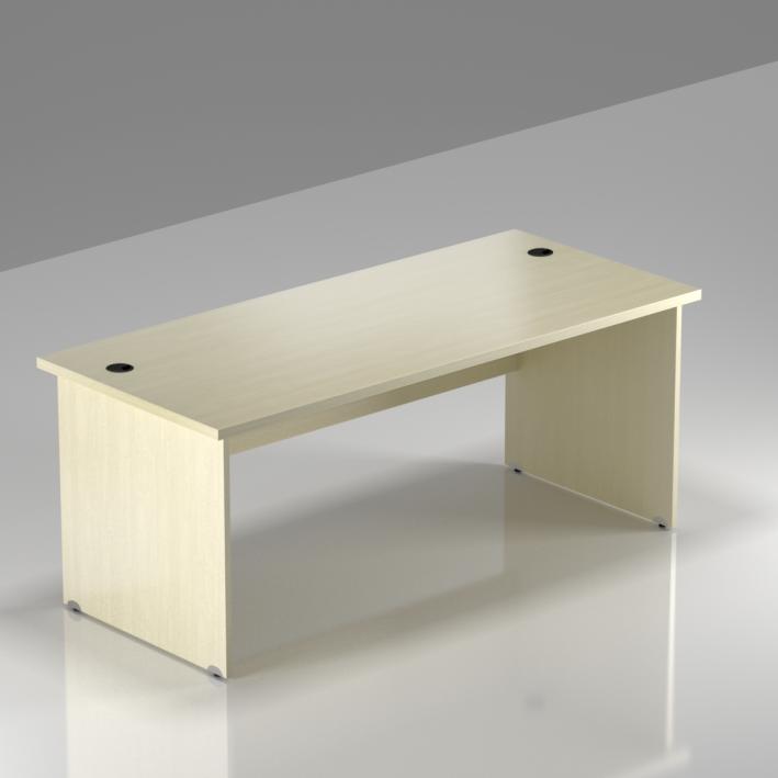 Kancelářský stůl Komfort, dřevěná podnož, 160x70x76 cm - BKA16 12