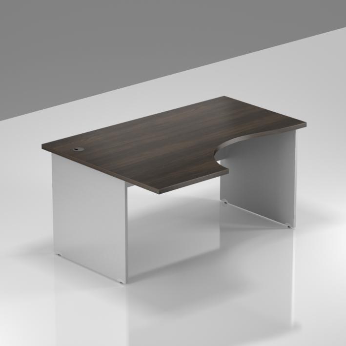 Kancelářský rohový levý stůl Komfort, dřevěná podnož, 140x70/100x76 cm - BKA19 07