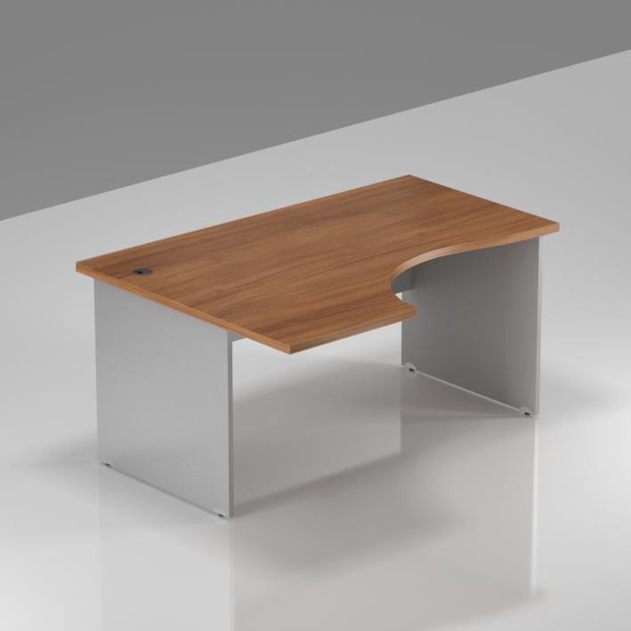 Kancelářský stůl rohový BKA19 19 ořech/šedá