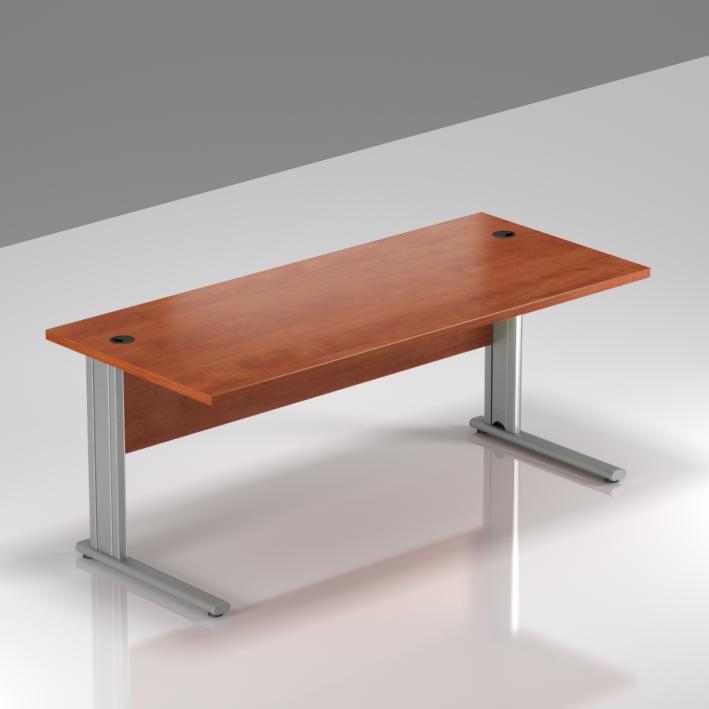 Kancelářský stůl Komfort, kovová podnož, 140x70x76 cm - BPR14 03