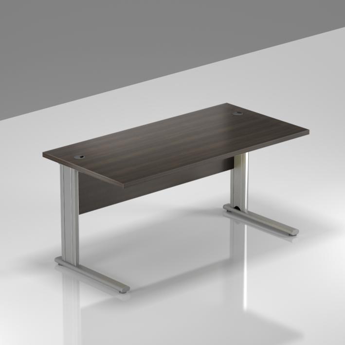 Kancelářský stůl Komfort, kovová podnož, 140x70x76 cm - BPR14 07