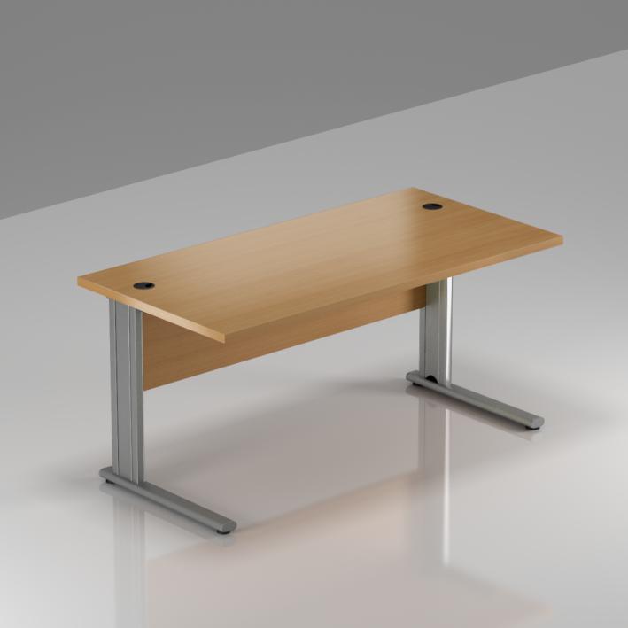 Kancelářský stůl Komfort, kovová podnož, 140x70x76 cm - BPR14 11