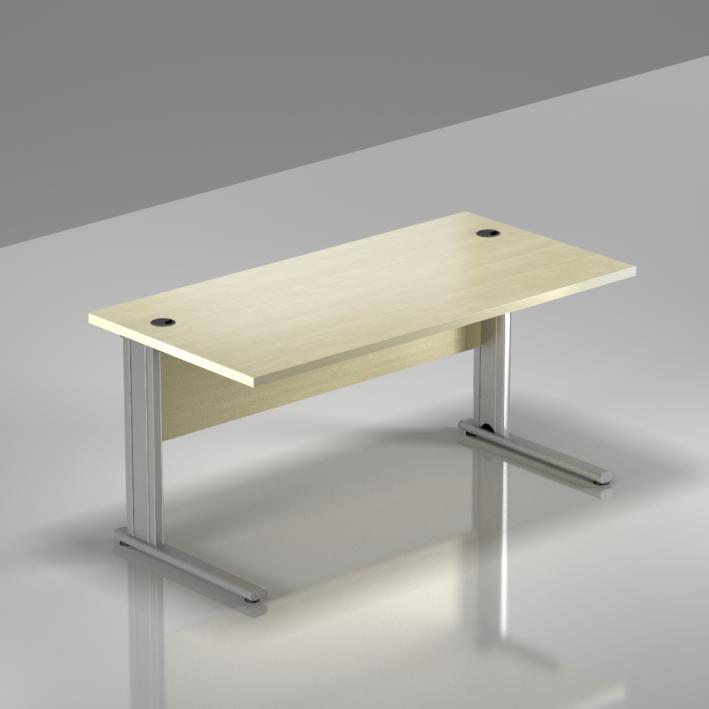 Kancelářský stůl Komfort, kovová podnož, 140x70x76 cm - BPR14 12