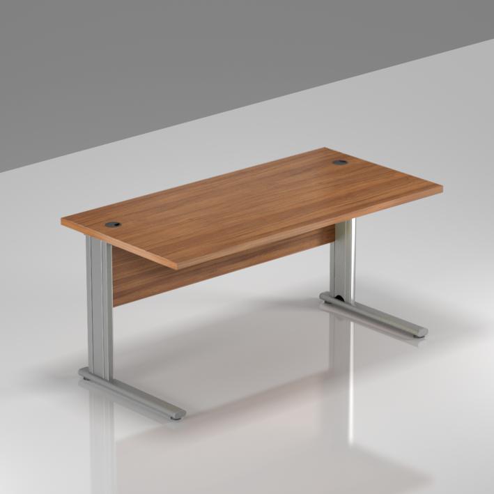 Kancelářský stůl Komfort, kovová podnož, 140x70x76 cm - BPR14 19