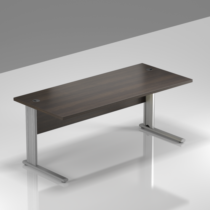 Kancelářský stůl Komfort, kovová podnož, 160x70x76cm - BPR16 07