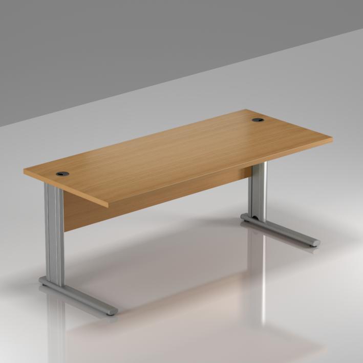 Kancelářský stůl Komfort, kovová podnož, 160x70x76cm - BPR16 11