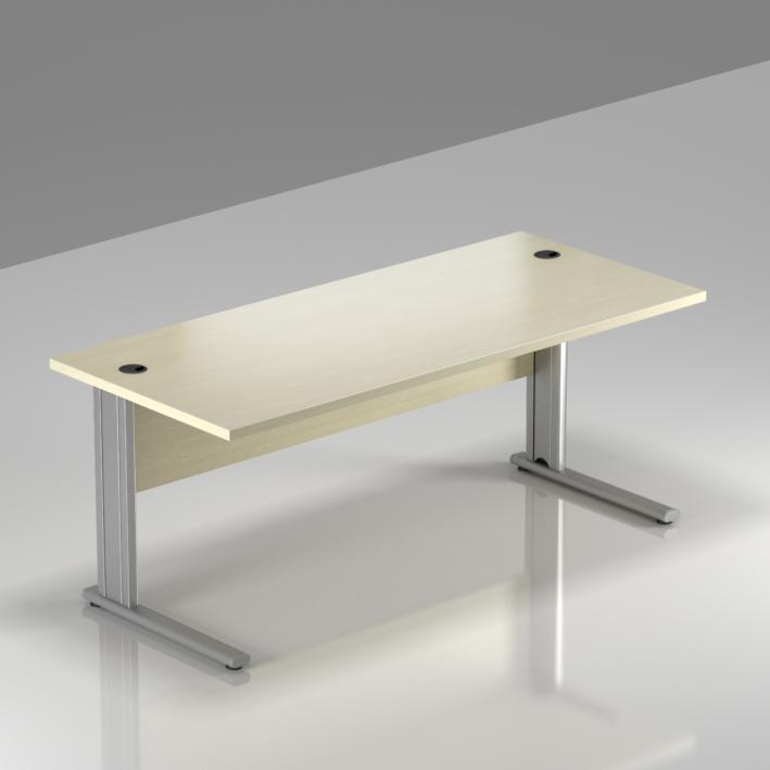 Kancelářský stůl Komfort, kovová podnož, 160x70x76cm - BPR16 12