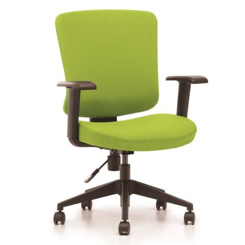Kancelářská židle Casa, zelený sedák i opěra zad - CASA B11