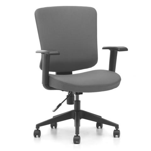Kancelářská židle Casa, antracit sedák i opěra zad - CASA B13