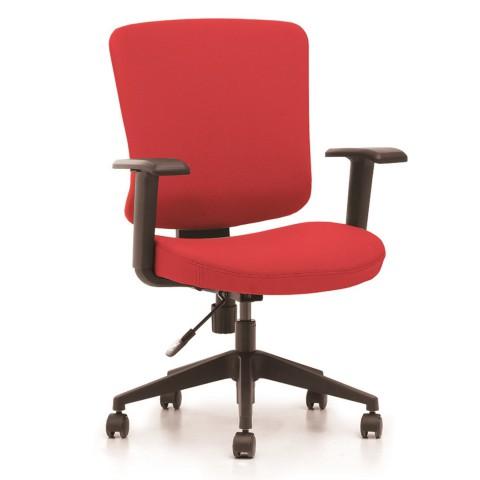 Kancelářská židle Casa, červený sedák i opěra zad - CASA B14