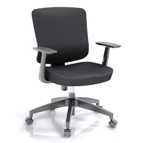 Kancelářská židle Casa, černý sedák i opěra zad - CASA B15