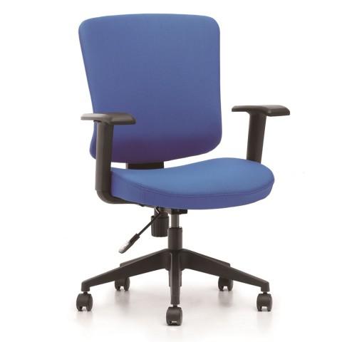 Kancelářská židle Casa, modrý sedák i opěra zad - CASA B16