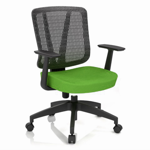 Kancelářská židle Casa, zelená, opěra zad síťová černá - CASA NET B11