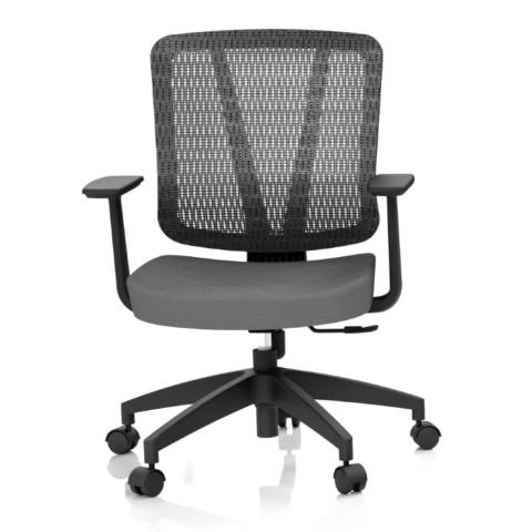 Kancelářská židle Casa, antracit, opěra zad síťová černá - CASA NET B13