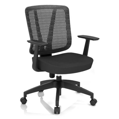 Kancelářská židle Casa, černá, opěra zad síťová černá - CASA NET B15