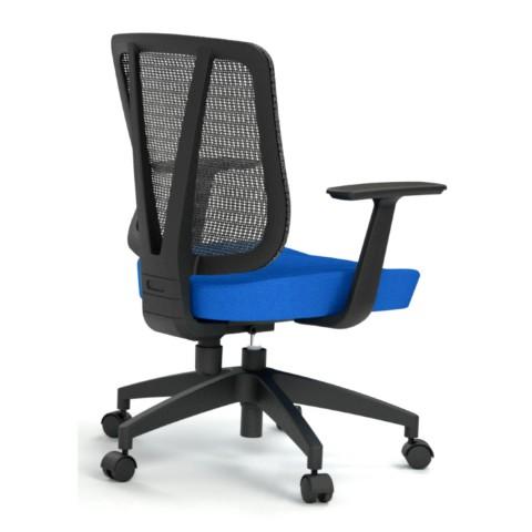 Kancelářská židle Casa, modrá, opěra zad síťová černá  - CASA NET B16