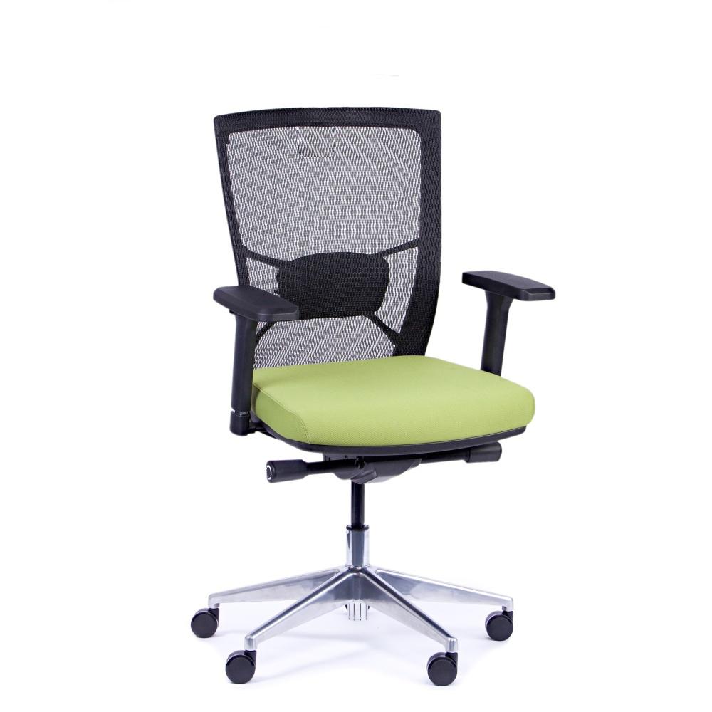 Kancelářská židle Fiore, zelená bez hlavové opěrky - FIORE BMF B11