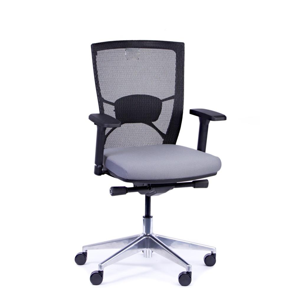 Kancelářská židle Fiore, antracit bez hlavové opěrky - FIORE BMF B13