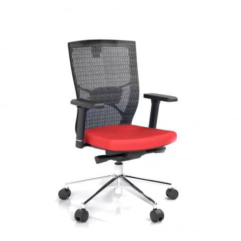 Kancelářská židle Fiore, červená bez hlavové opěrky - FIORE BMF B14