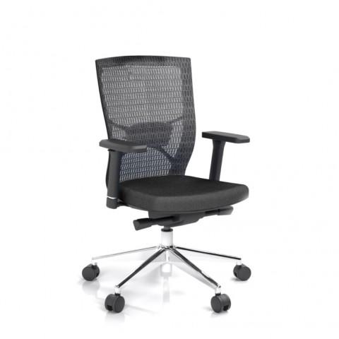 Kancelářská židle Fiore, černá bez hlavové opěrky - FIORE BMF B15