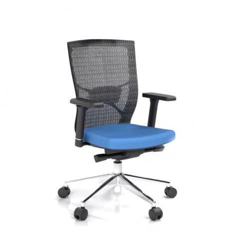 Kancelářská židle Fiore, modrá bez hlavové opěrky - FIORE BMF B16