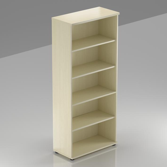 Kancelářský regál Komfort, 80x38,5x183,5 cm, bez dveří  - S580 12
