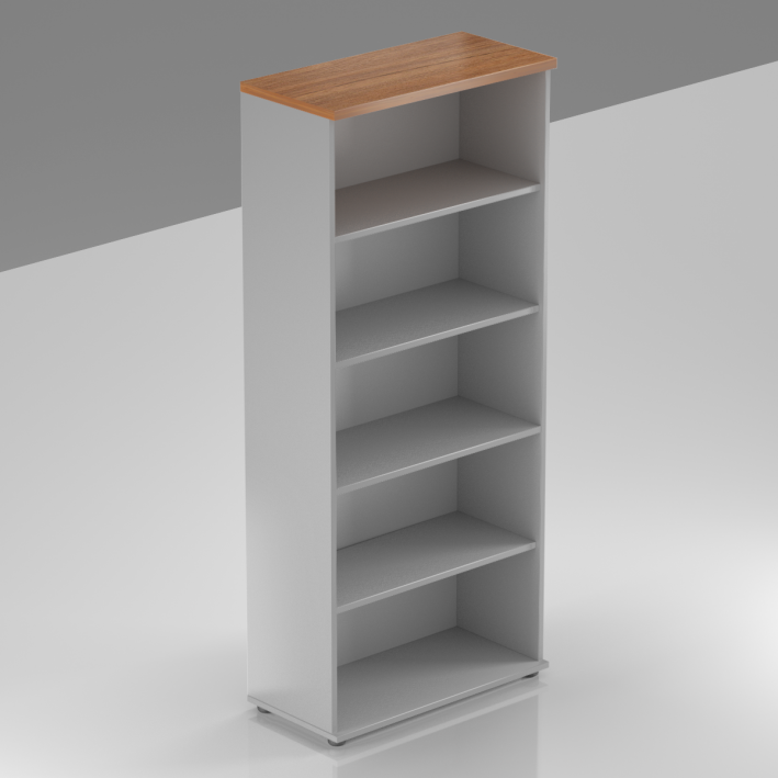 Kancelářský regál Komfort, 80x38,5x183,5 cm, bez dveří  - S580 19