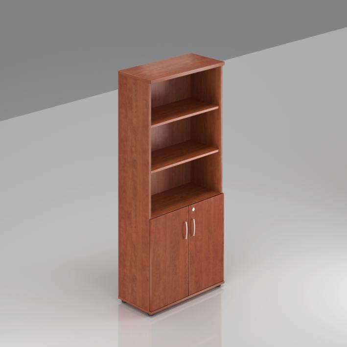 Kancelářská skříň Komfort, 80x38,5x183,5 cm, dveře 2/5  - S582 03