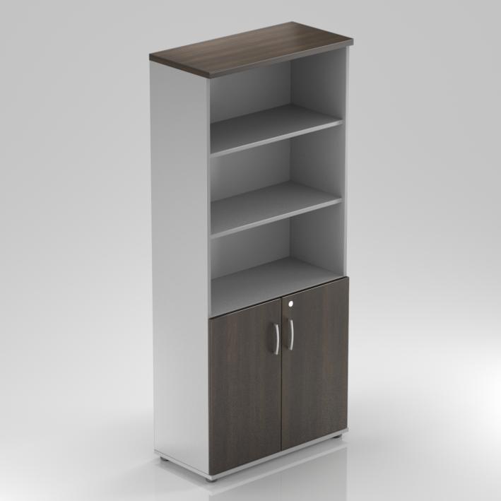 Kancelářská skříň Komfort, 80x38,5x183,5 cm, dveře 2/5  - S582 07