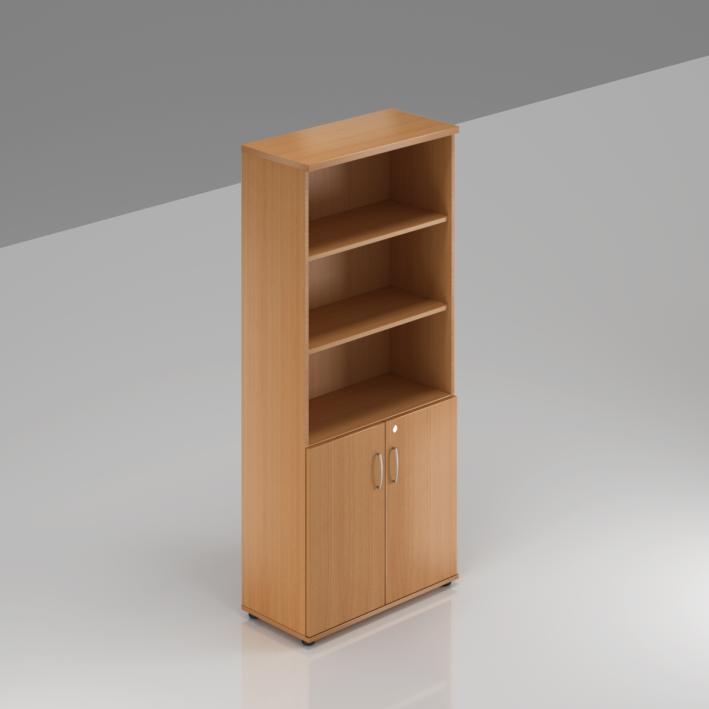 Kancelářská skříň Komfort, 80x38,5x183,5 cm, dveře 2/5  - S582 11