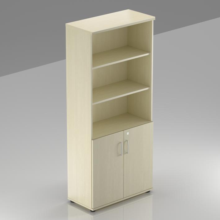 Kancelářská skříň Komfort, 80x38,5x183,5 cm, dveře 2/5  - S582 12