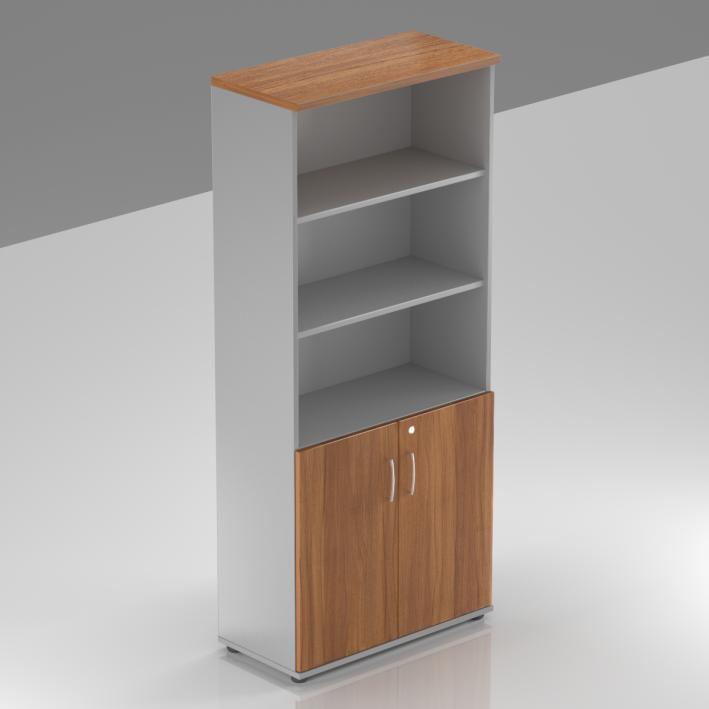 Kancelářská skříň Komfort, 80x38,5x183,5 cm, dveře 2/5  - S582 19