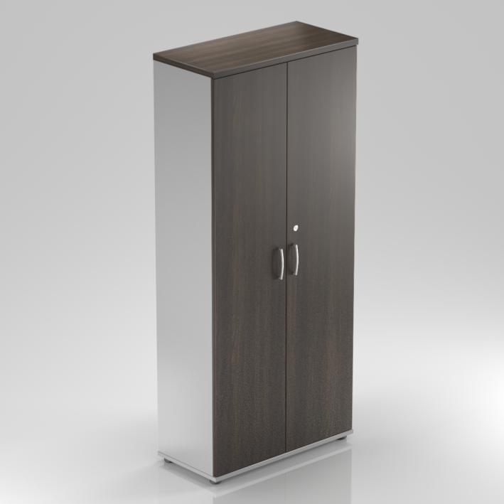 Kancelářská skříň Komfort, 80x38,5x183,5 cm, dveře 5/5  - S585 07