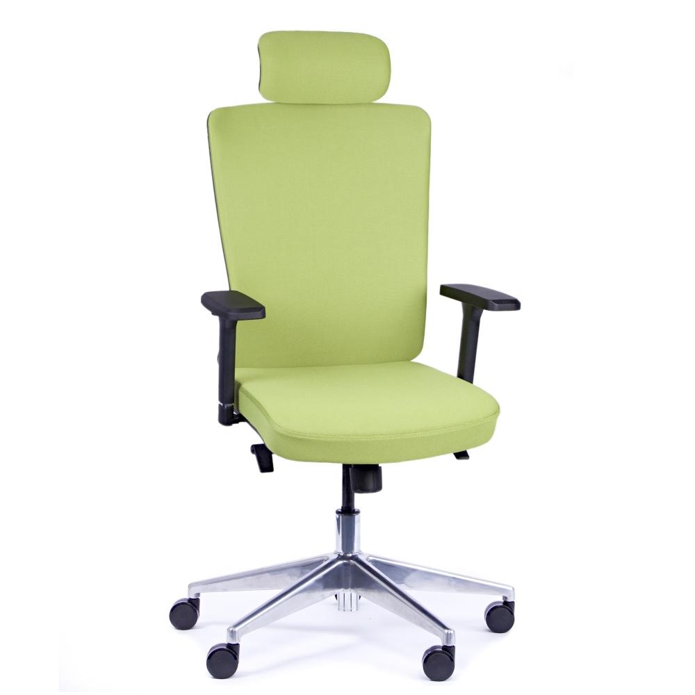 Kancelářská židle Vella, zelená s hlavovou opěrkou - VELLA AF B11
