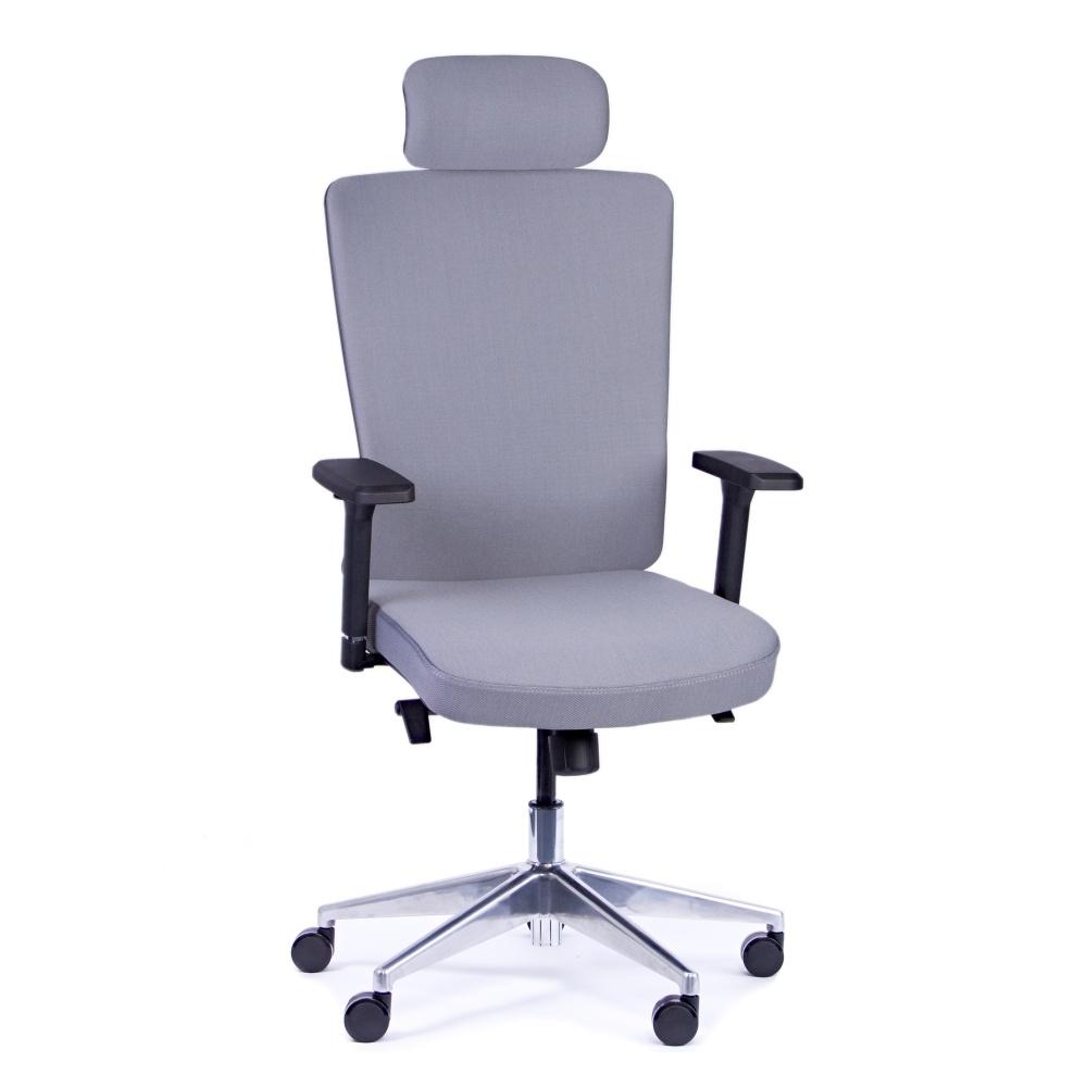Kancelářská židle Vella, antracit s hlavovou opěrkou - VELLA AF B13