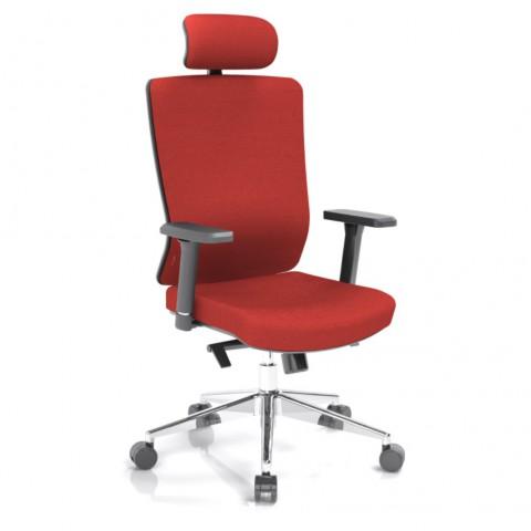 Kancelářská židle Vella, červená s hlavovou opěrkou - VELLA AF B14