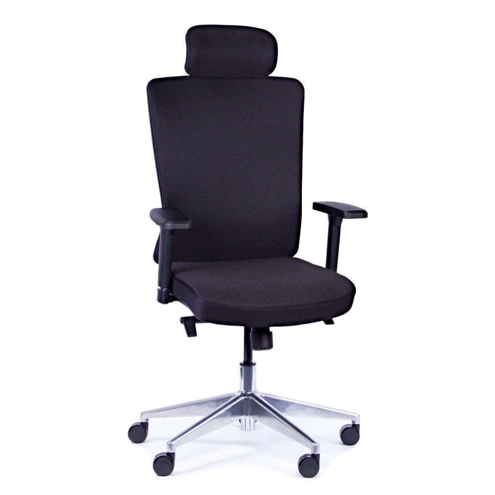 Kancelářská židle Vella, černá s hlavovou opěrkou - VELLA AF B15