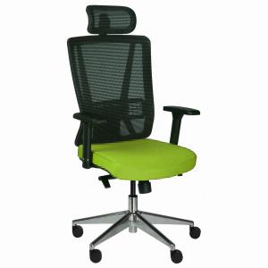 Kancelářská židle Vella, zelená s hlavovou opěrkou - VELLA AMF B11