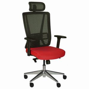 Kancelářská židle Vella, červená s hlavovou opěrkou - VELLA AMF B14