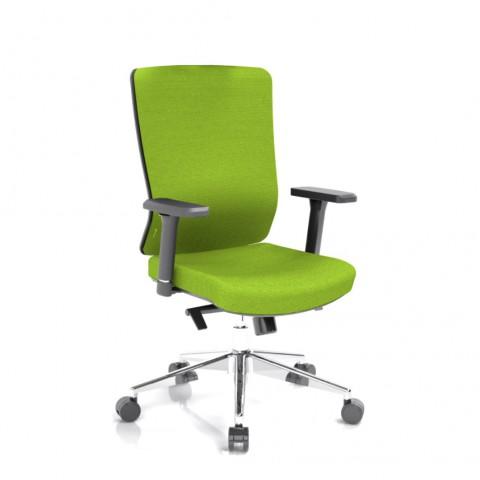 Kancelářská židle Vella, zelený sedák i opěra zad - VELLA BF B11