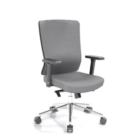 Kancelářská židle Vella, antracit sedák i opěra zad - VELLA BF B13