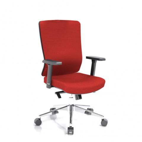 Kancelářská židle Vella, červený sedák i opěra zad - VELLA BF B14
