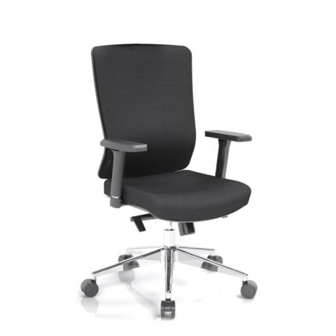 Kancelářská židle Vella, černý sedák i opěra zad - VELLA BF B15