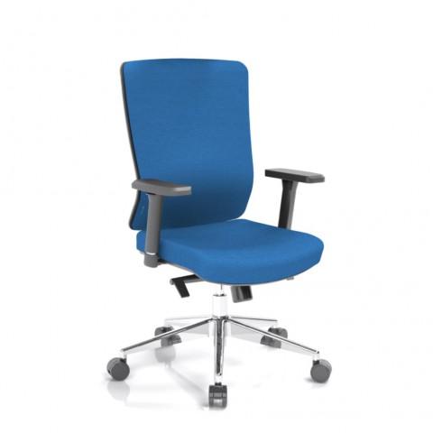 Kancelářská židle Vella, modrý sedák i opěra zad - VELLA BF B16