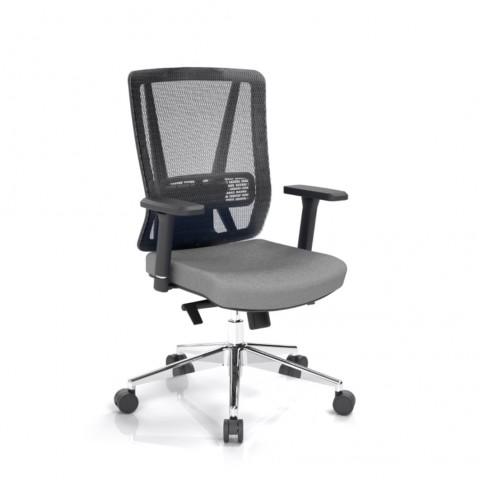Kancelářská židle Vella, antracit, opěra zad síťová černá - VELLA BMF B13