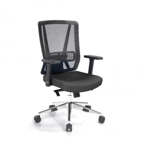 Kancelářská židle Vella, černá, opěra zad síťová černá - VELLA BMF B15