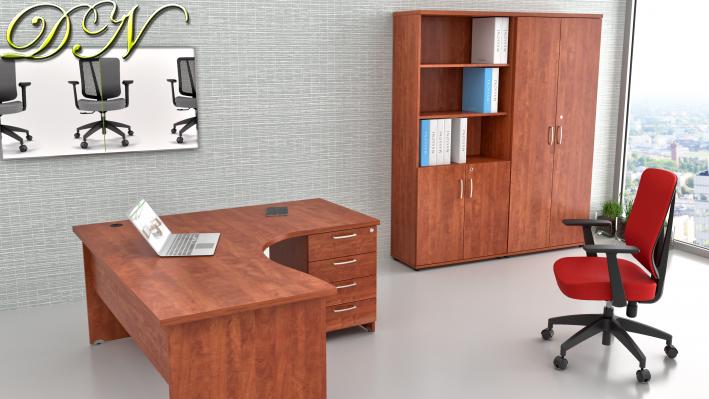 Sestava kancelářského nábytku Komfort 1.12, calvados - ZE 1.12 03